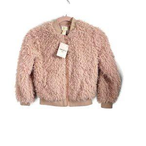 Forever 21 Pink Fuzzy & Fluffy Jacket Girls 7/8
